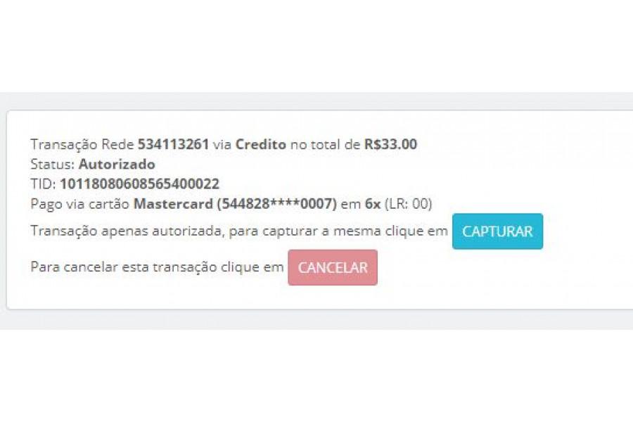 Módulo Pagamento e.Rede Rest API Cartões para Prestashop [Download Imediato]