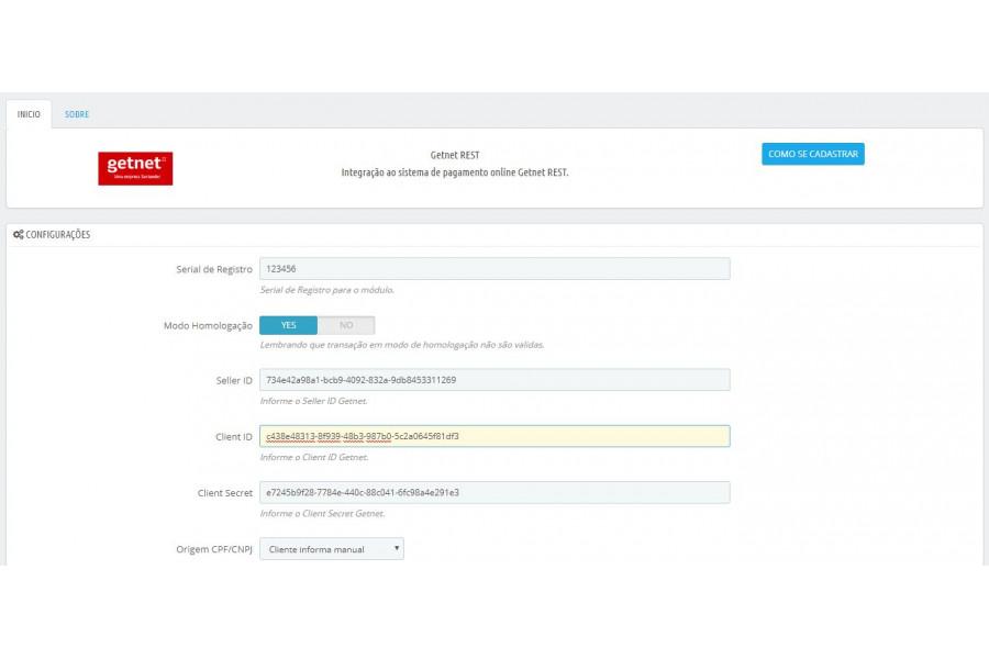 Módulo de Pagamento Transparente Getnet API REST Prestashop [Download Imediato]