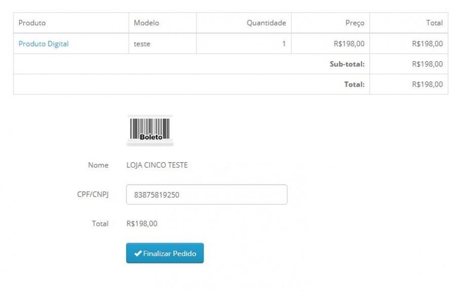 Plugin de Pagamento Cielo API 3.0 Cartões, Boleto e TEF para Opencart