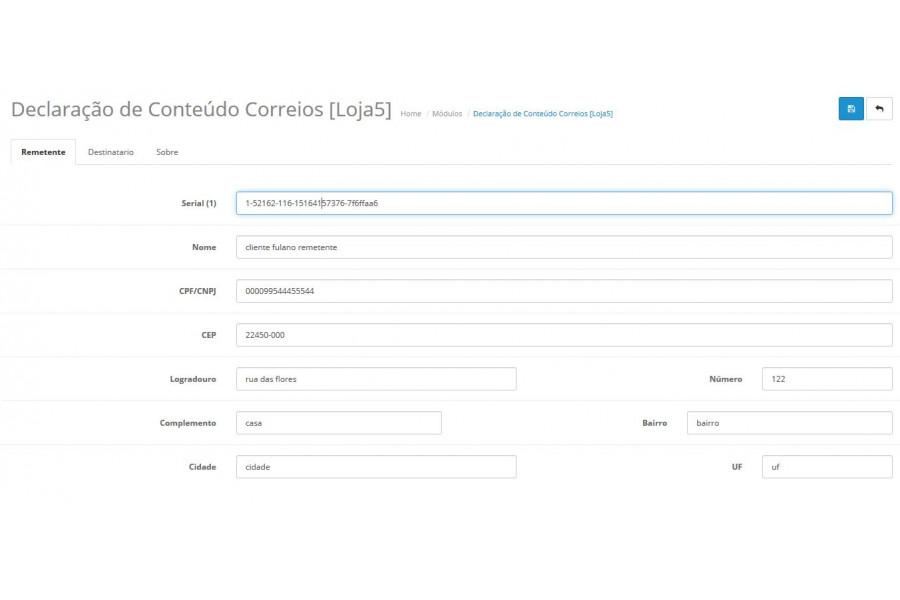 Módulo Imprimir Declaração de Conteúdo Correios para Opencart [Download Imediato]