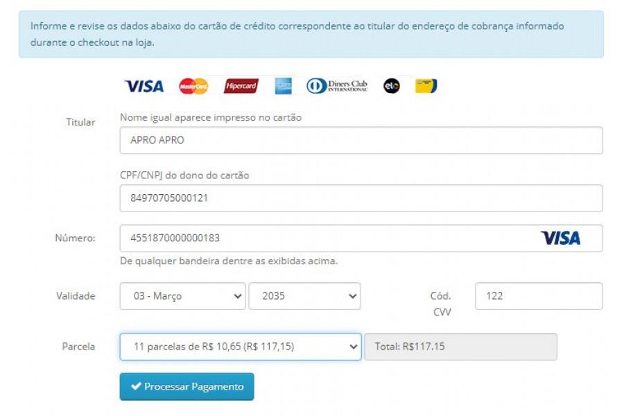 Módulo de Pagamento MercadoPago API Cartão Boleto Pix Lotérica para Opencart