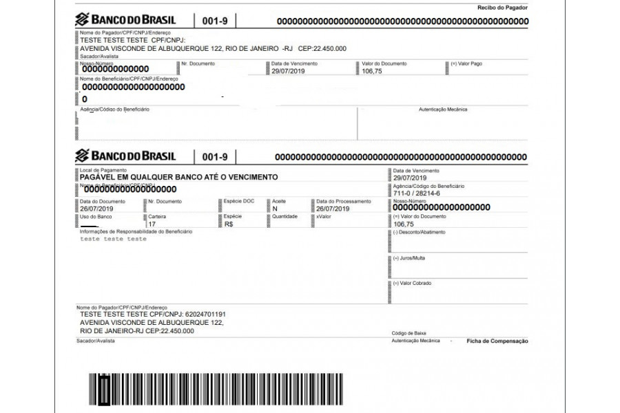 Módulo de Pagamento Banco do Brasil Boleto Registrado para Prestashop