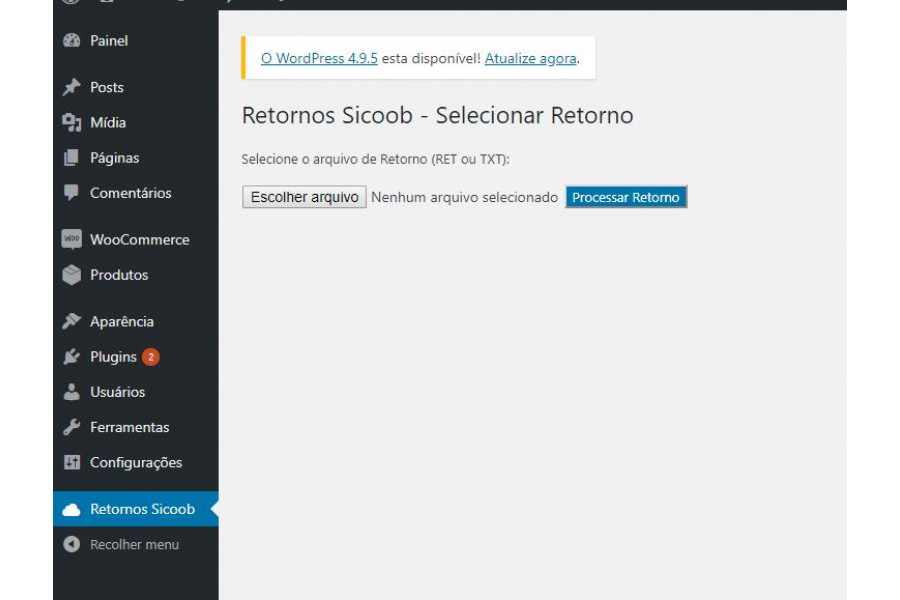 Plugin de Boleto Registrado Sicoob Web para Woocommerce [Download Imediato]