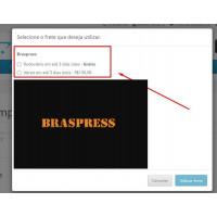 Módulo Transportadora Braspress API  para Lojas Opencart