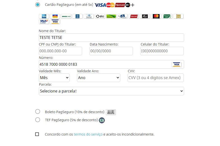 Módulo de Pagamento PagSeguro API PRO para Prestashop