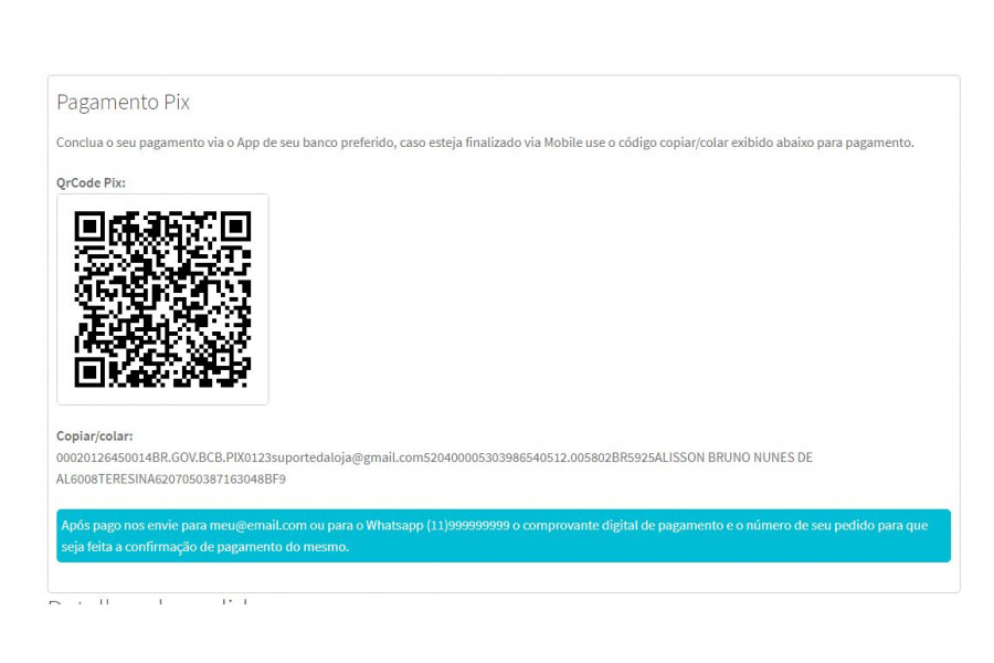 Módulo de Pagamento Pix QrCode Estático para Woocommerce