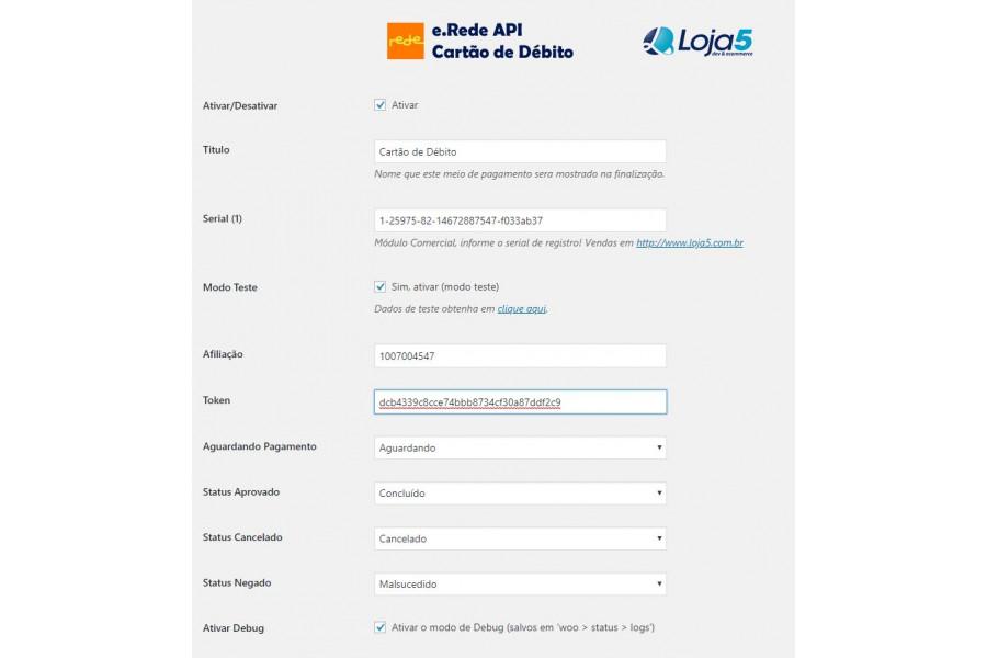 Plugin de Pagamento e.Rede API REST Cartão de Crédito e Débito para Woocommerce [Download Imediato]