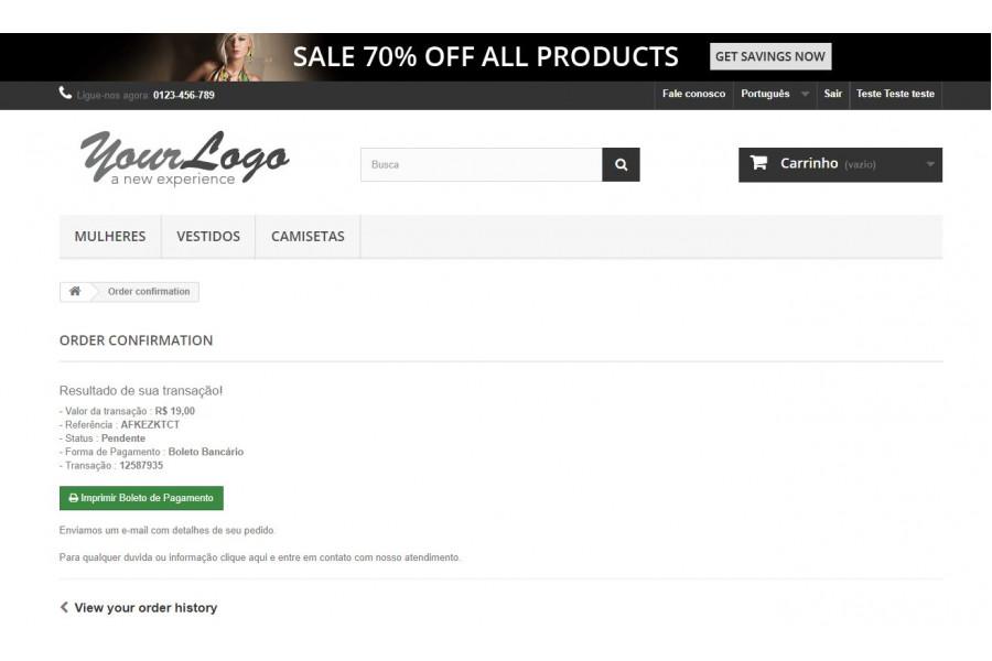 Módulo de Pagamento Itaú Shopline PRO para Prestashop [Download Imediato]