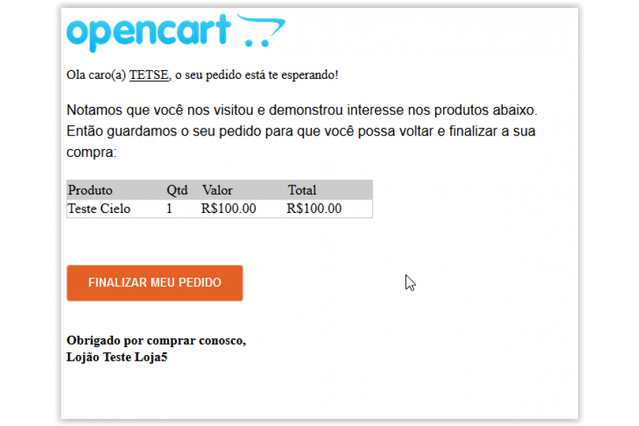 Módulo Recuperar Checkouts Abandonados Cart5 para Opencart [Download Imediato]
