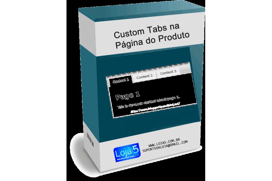 Módulo de Tabs Customizadas na Página do Produto Opencart