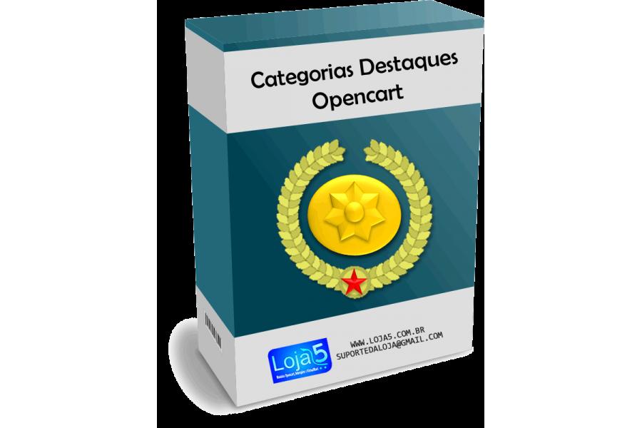 Módulo Exibir Categorias em Destaque Opencart