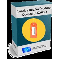 Módulo Rotulos e Labels Página do Produto Opencart