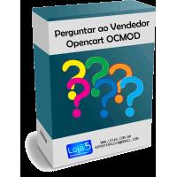 Módulo Perguntar ao Vendedor Opencart OCMOD