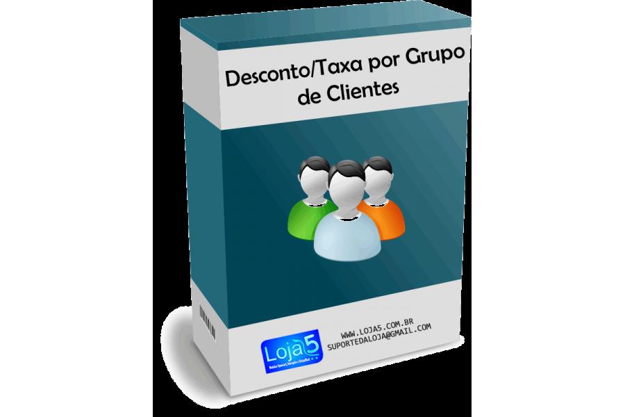 Módulo de Descontos e Taxas por Grupo de Clientes para Opencart
